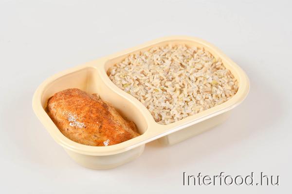almás fahéjas csirke párolt barna rizs