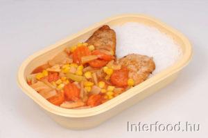 thai zöldséges csirke
