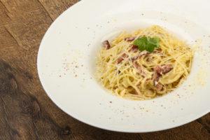 A carbonara spagetti
